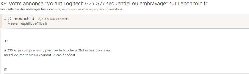 [Vends G27] G2710