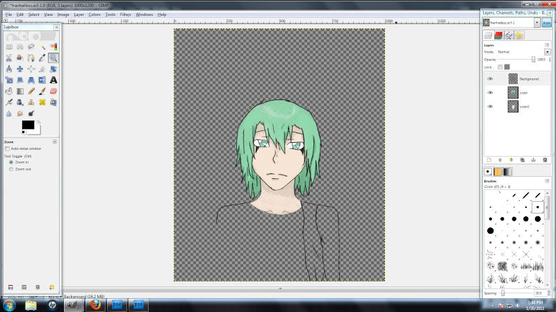 Fran *somewhat colored* WIP and Finished Product Franwi10