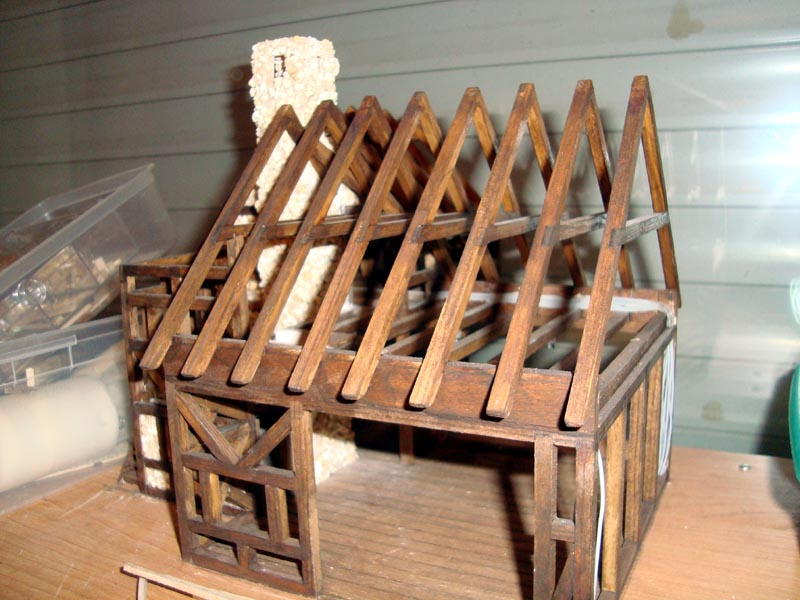 Fachwerkhaus mit Wasserrad Hauskl10