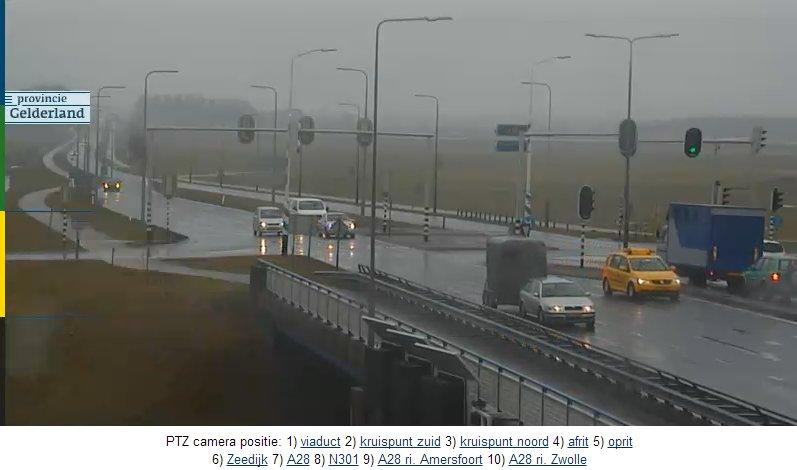 Нидерланды. Поворотная камера на автотрассе N301.  N30110