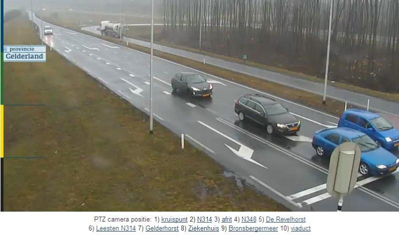 Нидерланды. Поворотная камера на автотрассе N314.   N31410