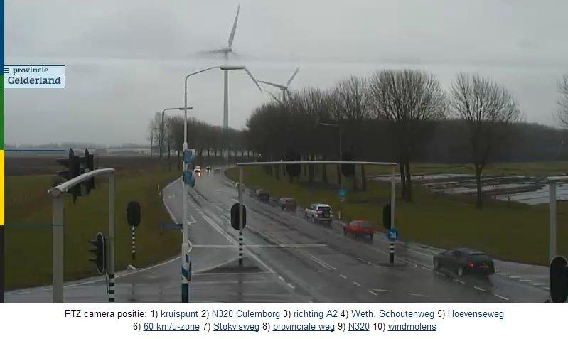 Нидерланды. Поворотная камера на автотрассе N320.   N32010
