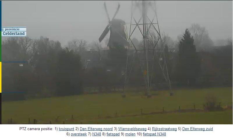 Нидерланды. Поворотная камера на автотрассе N348. (с мельницей)   N348-210