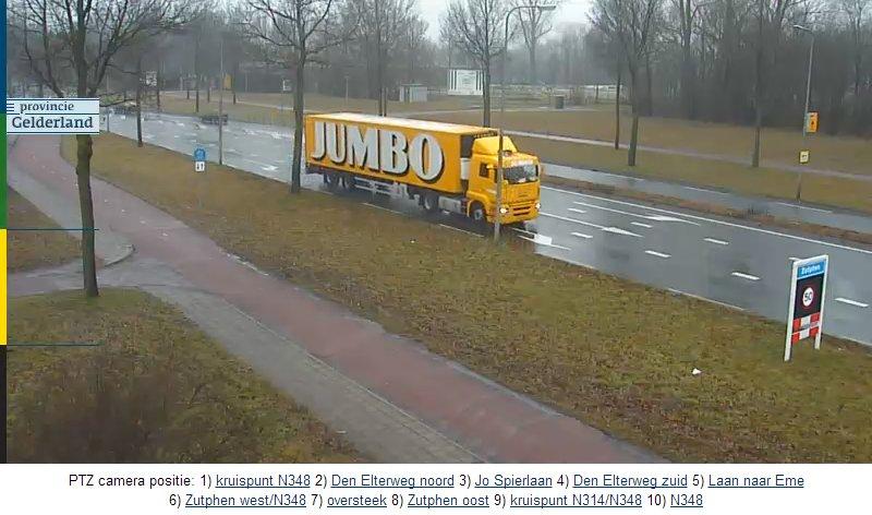 Нидерланды. Поворотная камера на автотрассе N348g.   N348-410