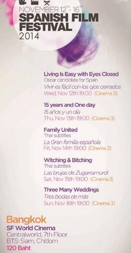 Festival Cine Español (Bangkok, 12-16 noviembre) B11