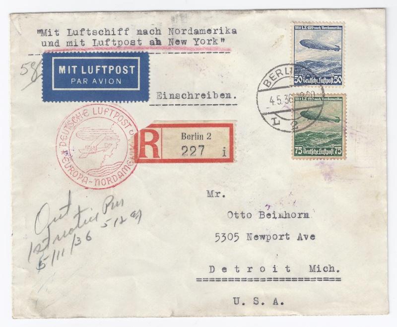 Zeppelinpost des LZ 129 - Seite 4 Brief10