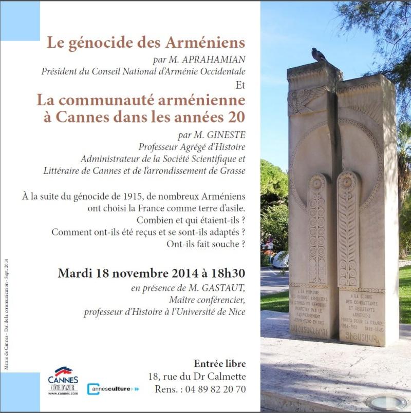 CONFÉRENCE SUR LE GÉNOCIDE DES ARMENIENS Confyr11
