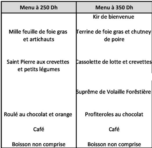 """fêtes - """"Les Cyprés"""" : les menus des fêtes de fin d'années Cyprys12"""