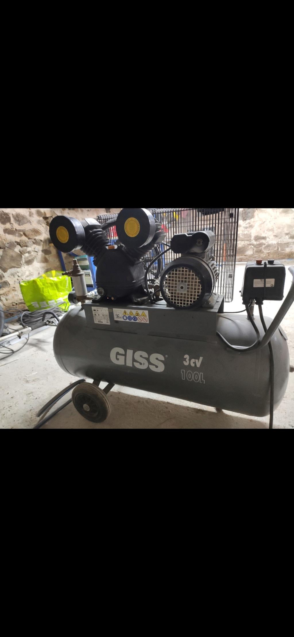 Compresseur GISS VFR385 qui chauffe Screen10