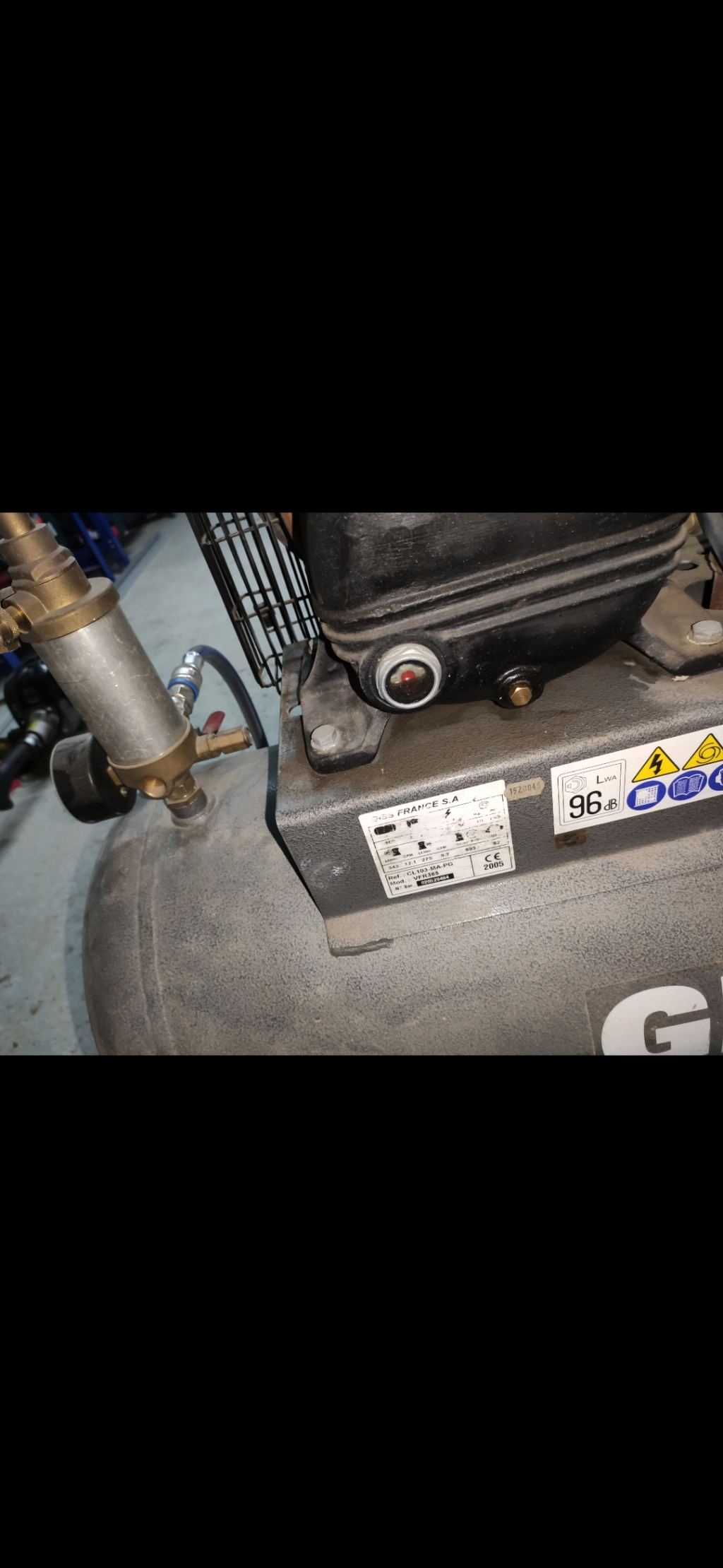 Compresseur GISS VFR385 qui chauffe Screen11