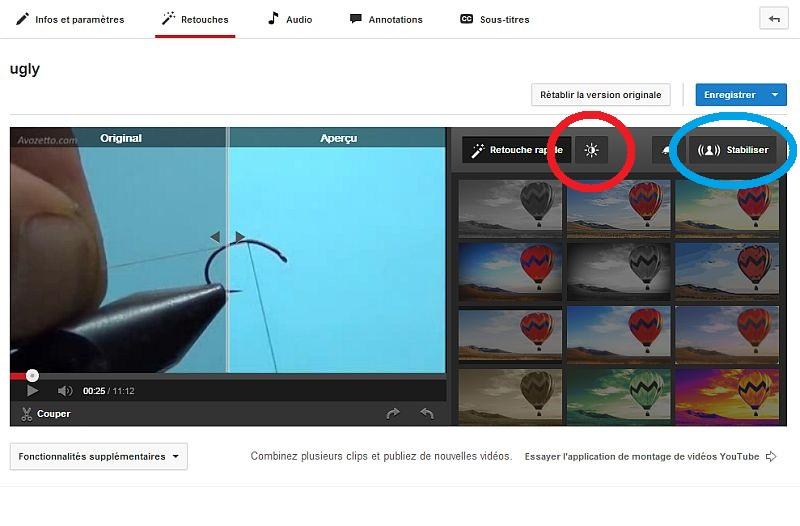 Améliorer votre vidéo dans youtube Modvid12