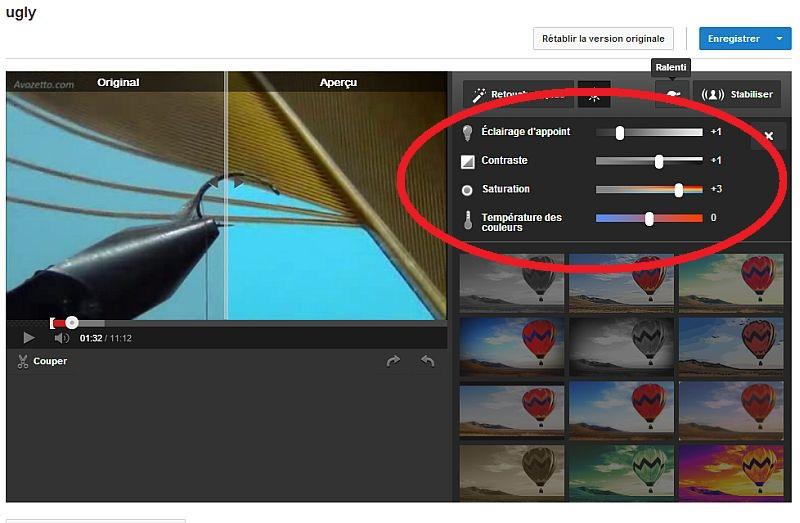 Améliorer votre vidéo dans youtube Modvid14