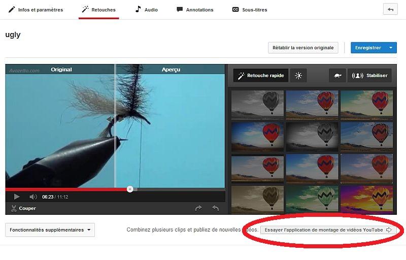 Améliorer votre vidéo dans youtube Modvid15