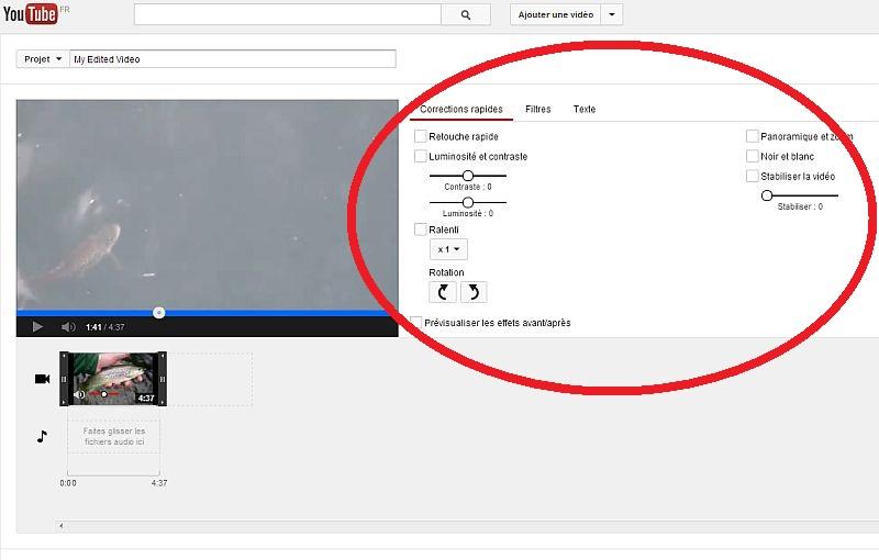 Améliorer votre vidéo dans youtube Modvid16