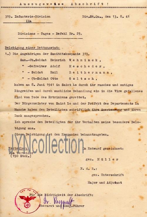 Vos décorations militaires, politiques, civiles allemandes de la ww2 - Page 8 Rettun12