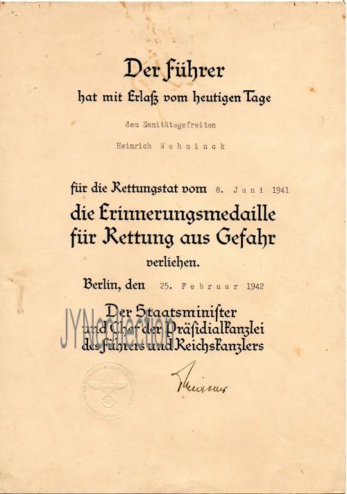 Vos décorations militaires, politiques, civiles allemandes de la ww2 - Page 8 Rettun13