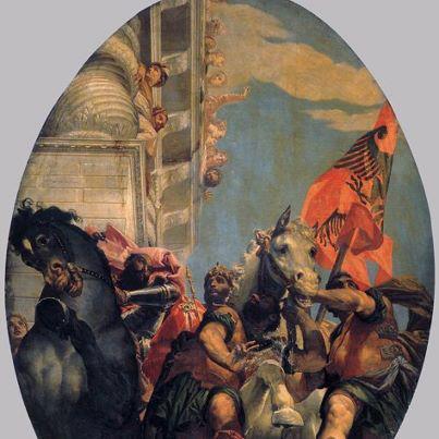 Studiuesja Lucia Nadin zbulon simbolin: FLAMURI I KASTRIOTIT, në afresket e një kishe në Venecia 57784810