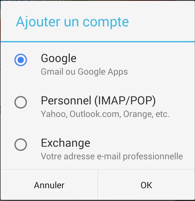[TUTO] Comment pouvoir paramétrer des comptes Exchange dans la nouvelle version de GMAIL Screen11