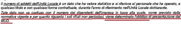NUMERO DI ADDETTI E 2 UNITA' LOCALI Obblig11