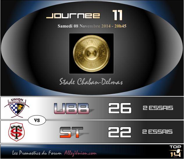 PRONOS 2014/2015 . UBB - ST - Page 3 J1111