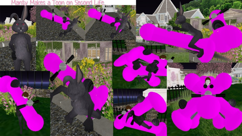 Manty made a toon on Second Life last night... Mantys10