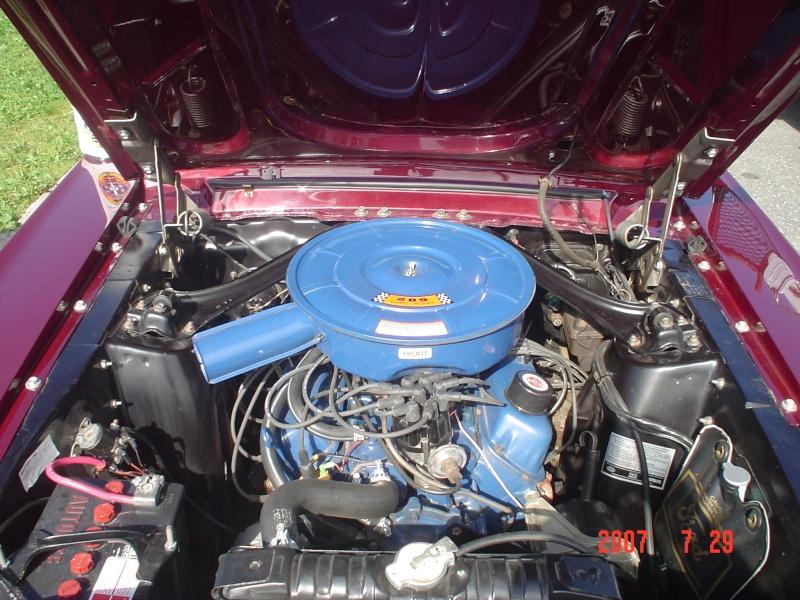 La Mustang 1967 du membre Renald Remillard Moteur10