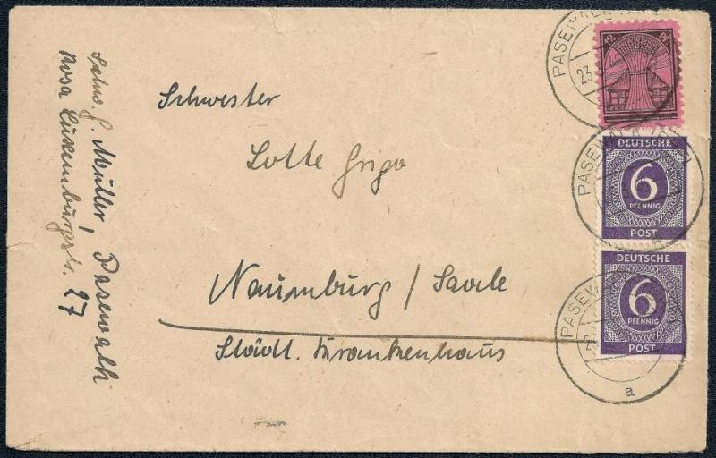 Deutsches Reich - Belege aus März 1946  111