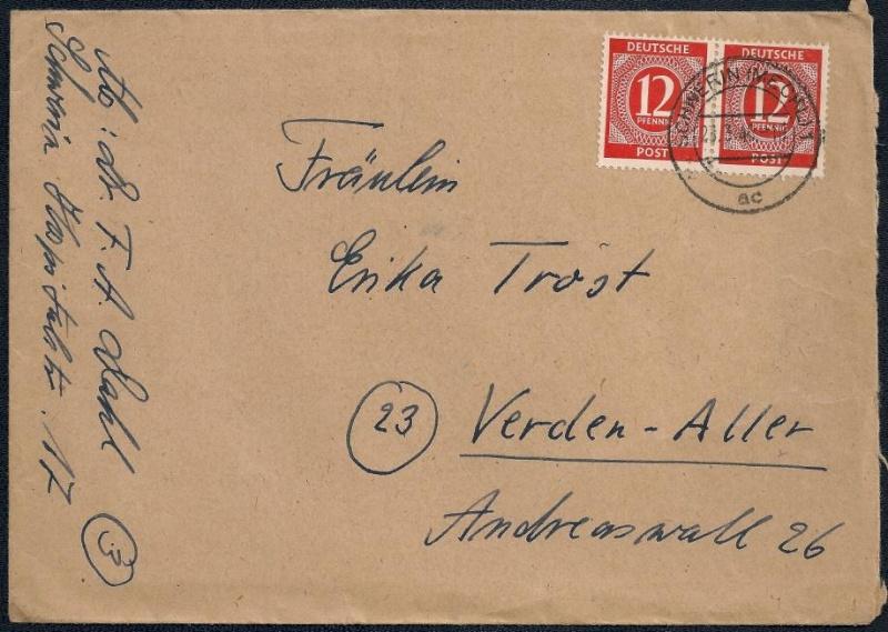 Deutsches Reich - Belege aus März 1946  112