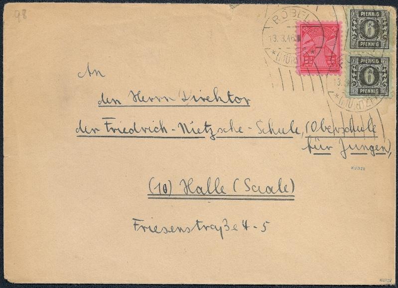 Deutsches Reich - Belege aus März 1946  1946-019