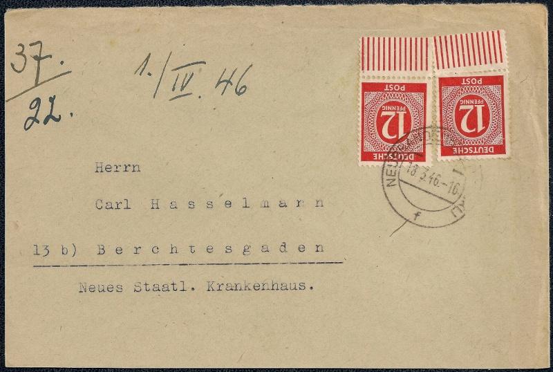 Deutsches Reich - Belege aus März 1946  1946-021