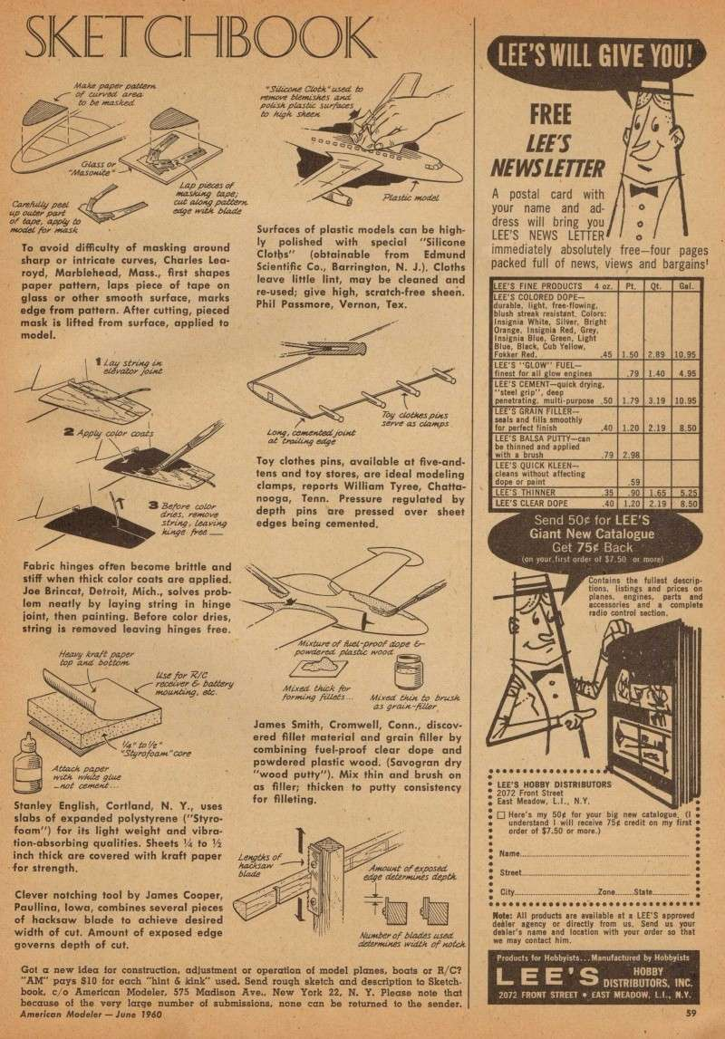 "Old Magazine Morning...""Another Model Airplane Hero"": Don McGovern's 'All Wet' column Flying Models 8/68 Sketch10"