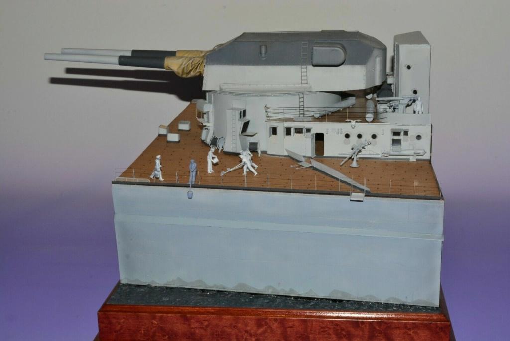 Takom 1:72 Bismarck-Diorama Geschützturm Bruno mit extra Rumpfsegment Segmen10