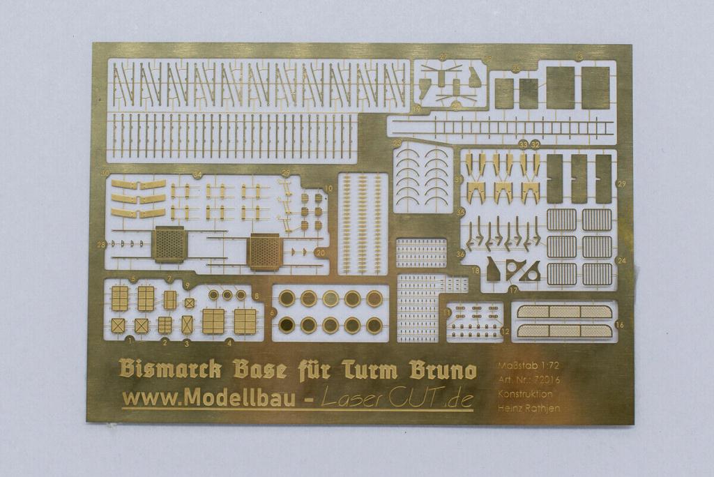 Takom 1:72 Bismarck-Diorama Geschützturm Bruno mit extra Rumpfsegment Segmen11