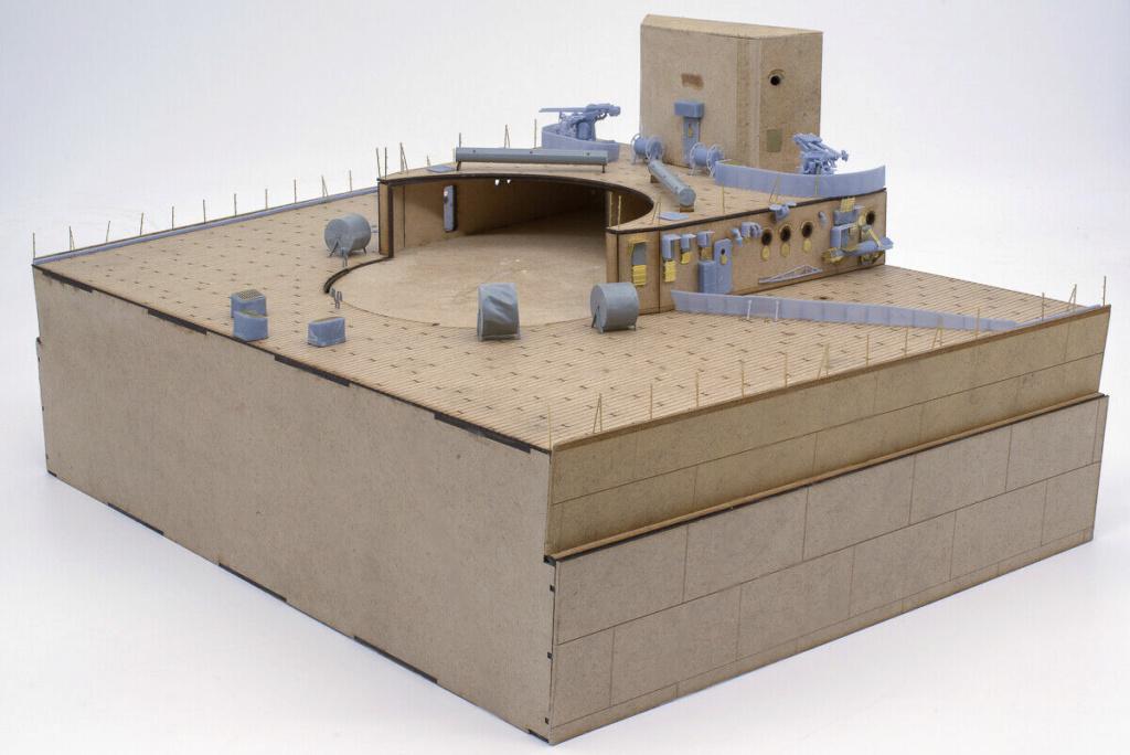 Takom 1:72 Bismarck-Diorama Geschützturm Bruno mit extra Rumpfsegment Segmen13