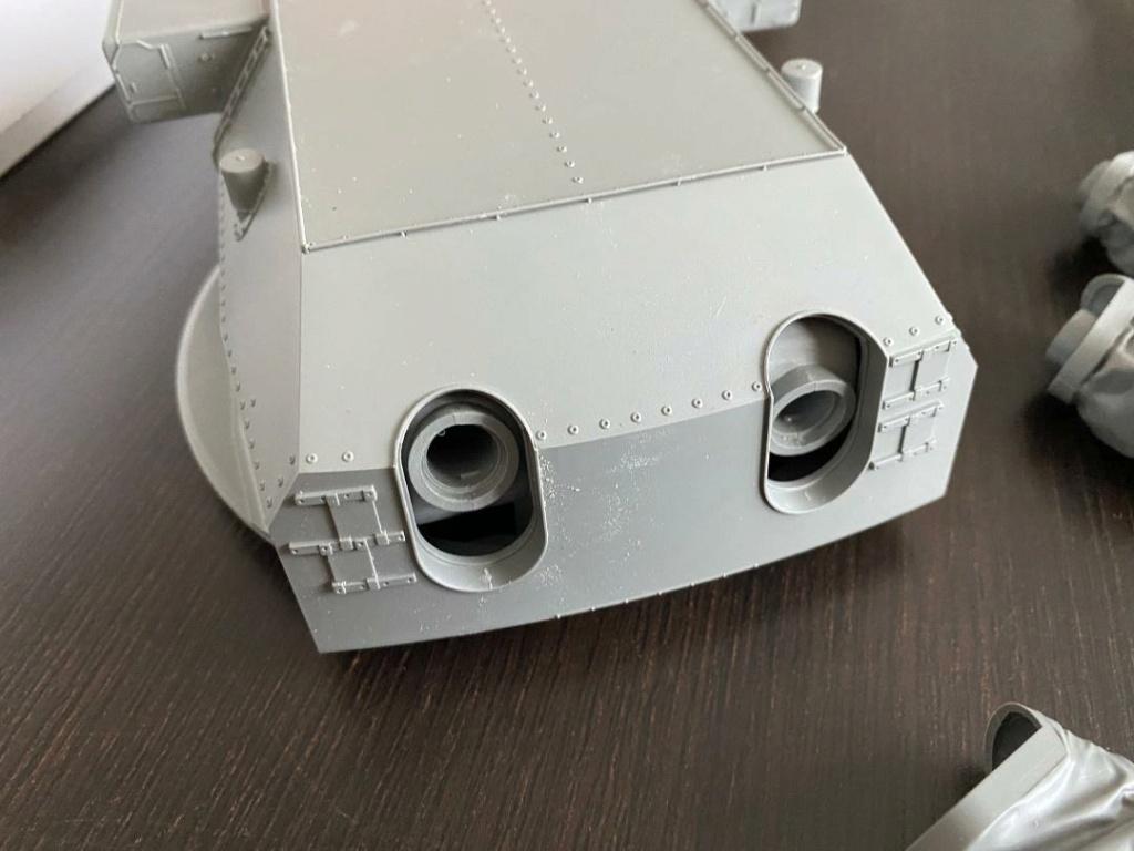 Takom 1:72 Bismarck-Diorama Geschützturm Bruno mit extra Rumpfsegment Takom_16