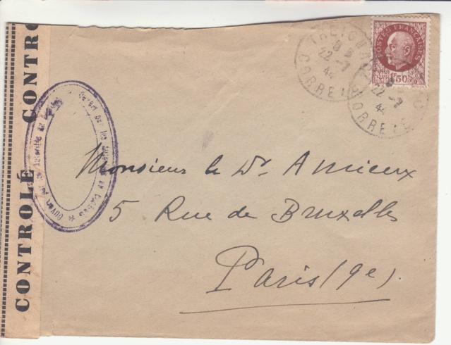 1944 une lettre contrôlée par la censure _1002610