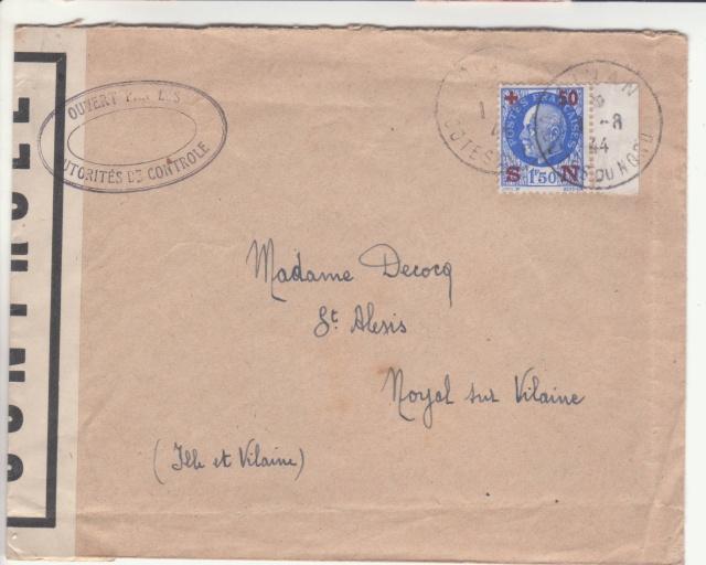 1944 une lettre contrôlée par la censure _3001410