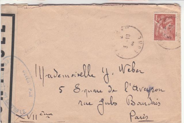 1944 une lettre contrôlée par la censure _5001310