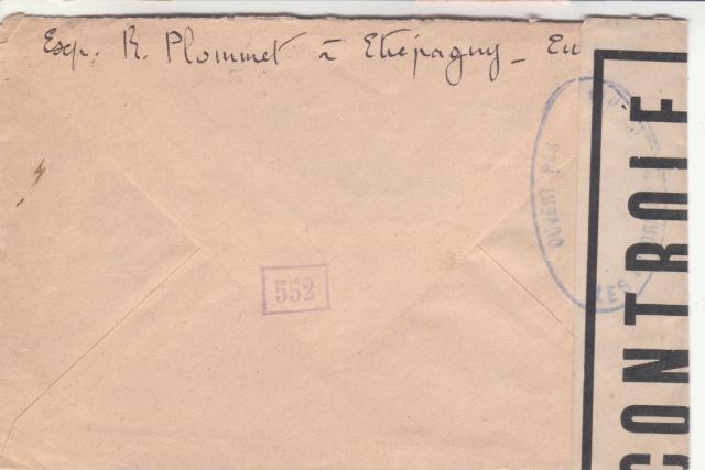 1944 une lettre contrôlée par la censure _6001110