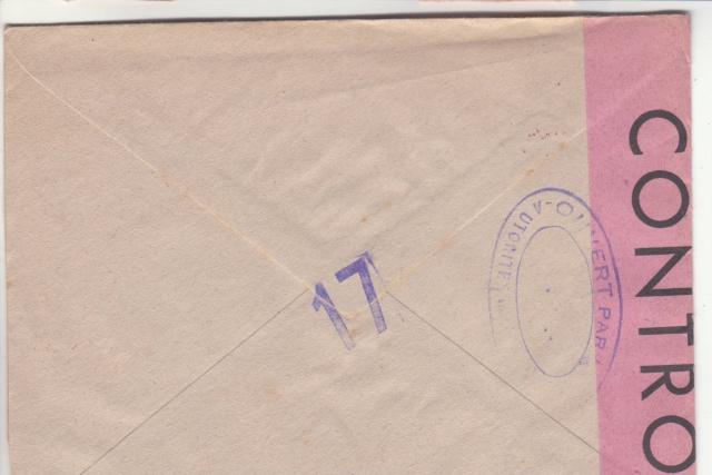 1944 une lettre contrôlée par la censure _8000710