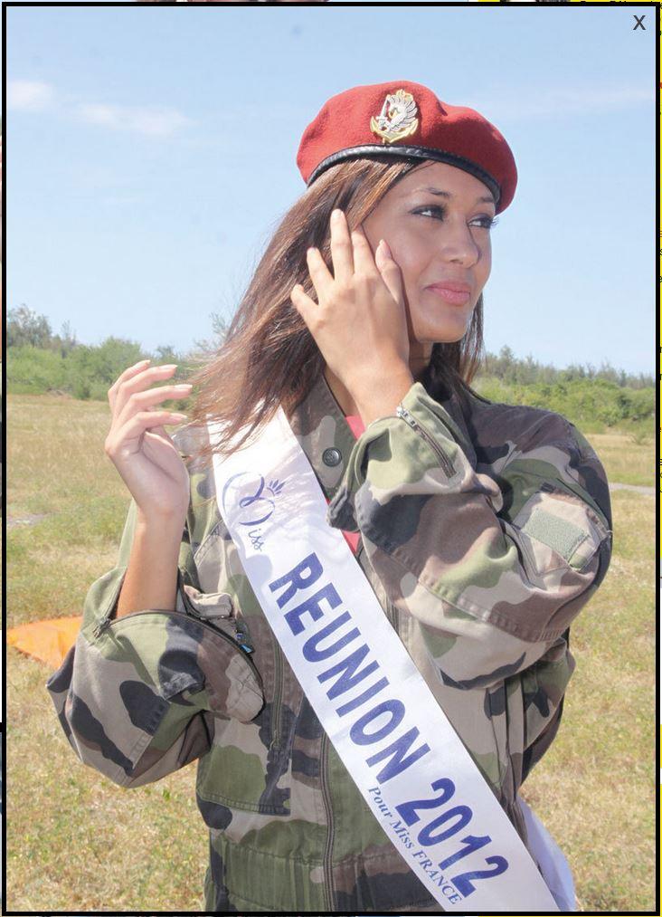 """Stéphanie Robert au 2ème RPIMA, Une Miss Réunion """"en l'air""""! Miss_r10"""