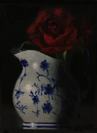 67th Painting:  Pitcher and the Rose Rose_p12