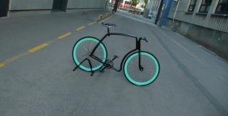 viks: steel tube fixed gear commuter bike Aqua_410