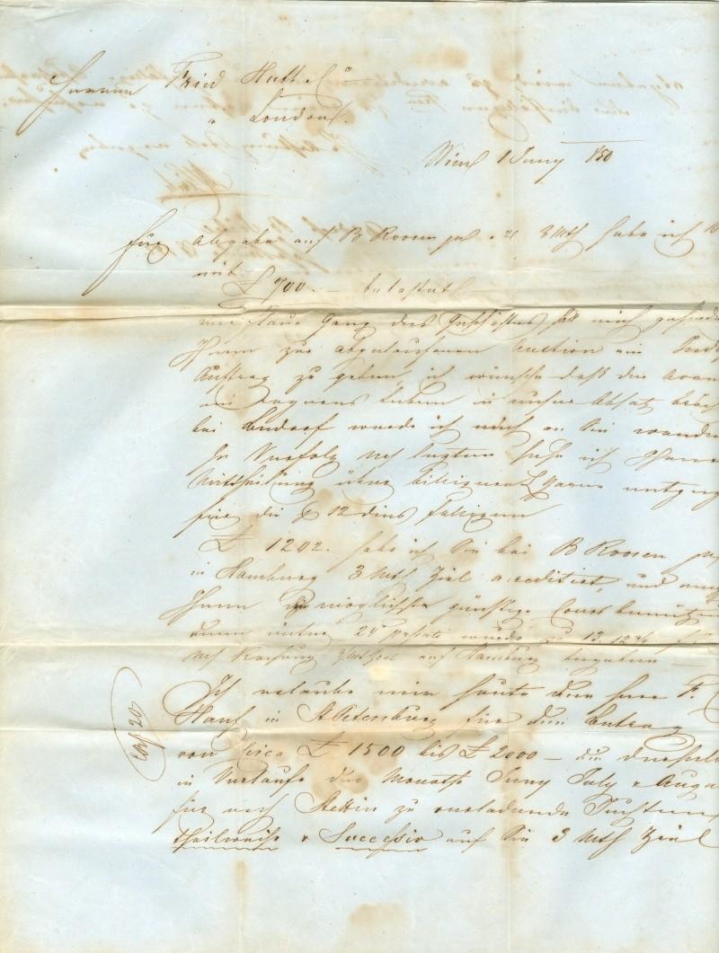 Vorphilatelie Österreich  -   Briefe aus der Vormarkenzeit Vorphi11
