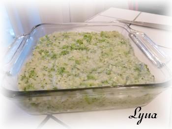 Casserole de riz au brocoli et fromage Casser10