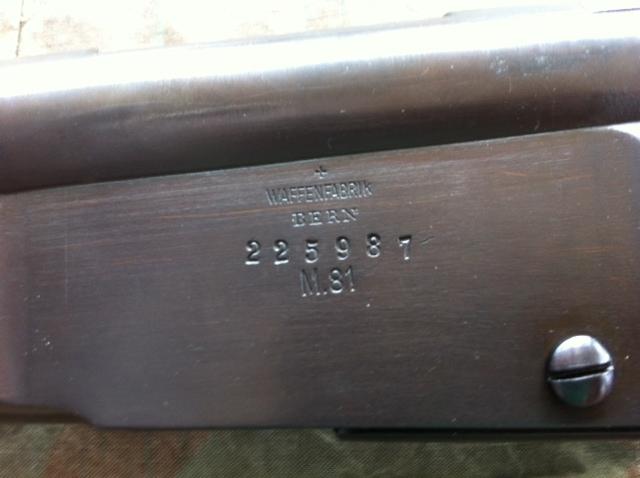 Fusil d'ordonnance modèle M.81, Vetterli 610