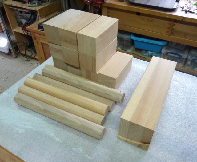 Kubb, un jeu en bois d'extérieur 1011