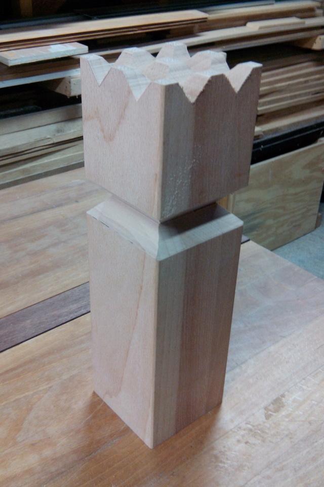 Kubb, un jeu en bois d'extérieur 1110