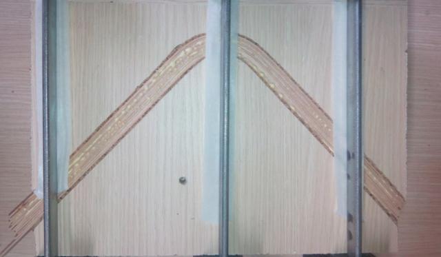 Simple étagère avec équerre en lamellé-collé cintrée 4colla10
