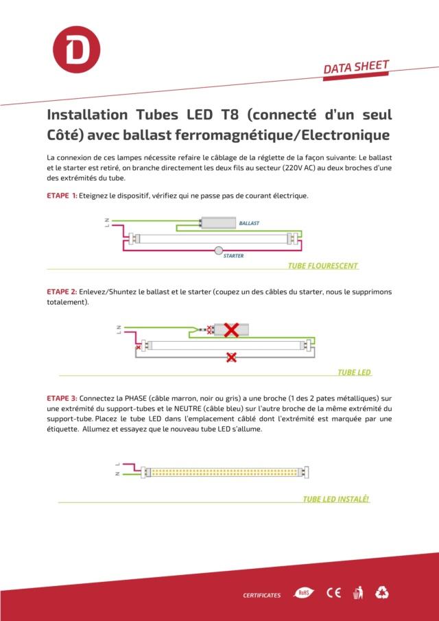Recablage luminaires double neon pour mettre des tubes led Manuel10